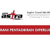Jawatan Kosong di Aspire Travel Sdn Bhd - Kerani Pentadbiran Diperlukan