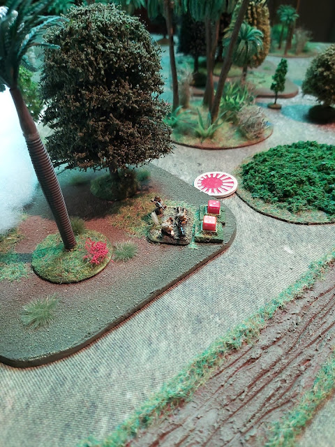 A Japanese section breaks and flees!
