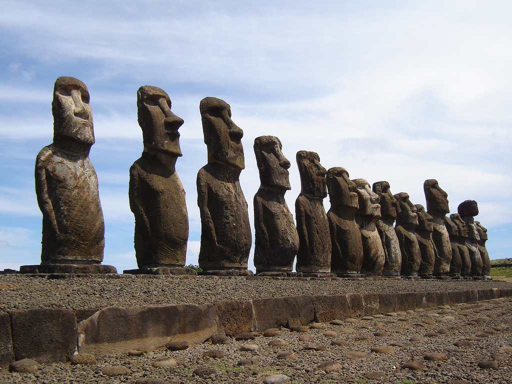 GLOBE IN THE BLOG Moai Statues of the Easter Island Chile
