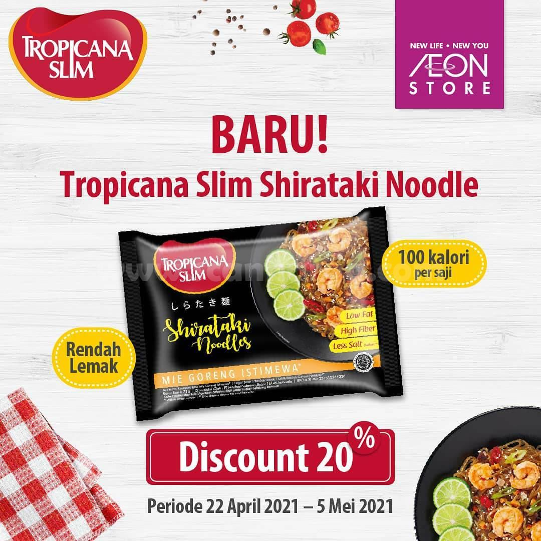 AEON Promo Tropicana Slim Shirataki Noodles Harga DISKON 20%