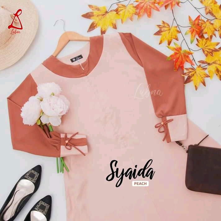 Syaida Peach By Lubna Collection