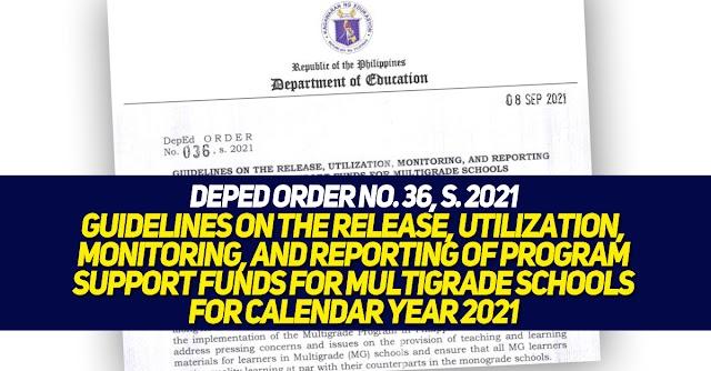 DepEd ORDER no. 36, s. 2021