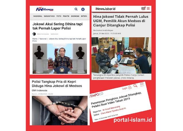Jokowi Akui Sering Dihina tapi tak Pernah Lapor Polisi, Tapi Kok Ditangkapi?