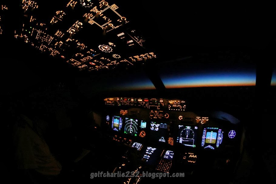 Live from the Flight Deck: Boeing 737NG - Flight deck at night (picture)
