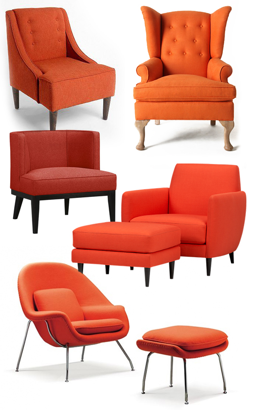 Orange accent chairs galore | How About Orange