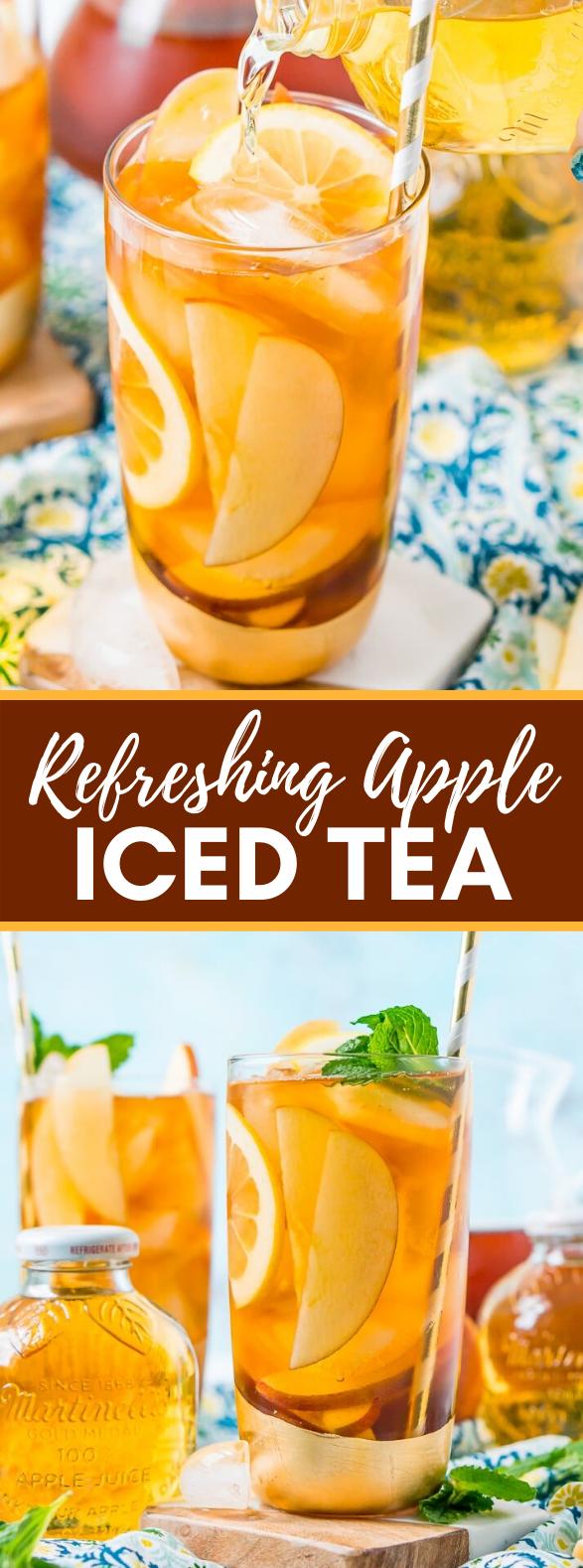 Apple Iced Tea #drinks #summerdrink #icedtea #fruit #freshdrink