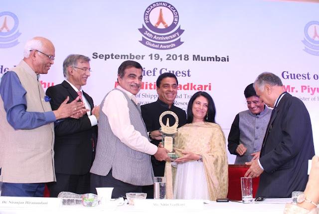 newztabloid-Priyadarshni Academy-Global Awards-Anushka Sharma-Ronnie Screwvala-Nanik Rupani-Niranjan Hiranandani-Nitin Gadkari-Piyush Goyal-Suresh Prabhu-Bharat Dhabolkar-Poonam Dhillon