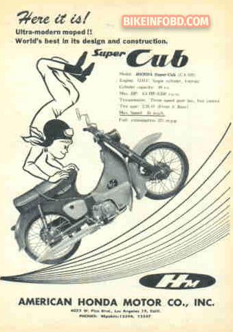1960 Honda Super Cub Moped Photos