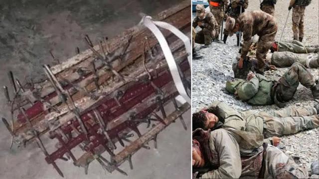 Ternyata Batang Besi Penuh Paku Ini Yang  Digunakan Tentara China dalam Bentrok yang Menewaskan 20 Tentara India