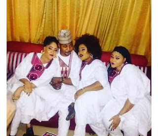 MC Oluomo Celebrates Valentine With His 3 Wives [Photo]