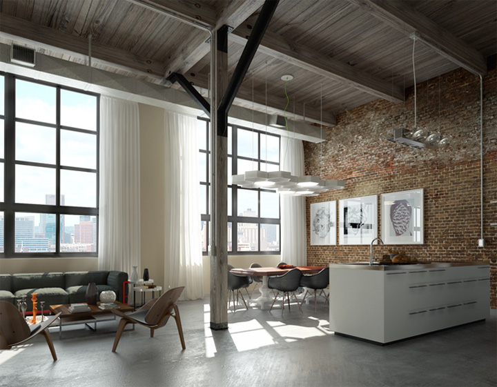 Thiết kế nội thất phòng làm việc với vật liệu tái chế