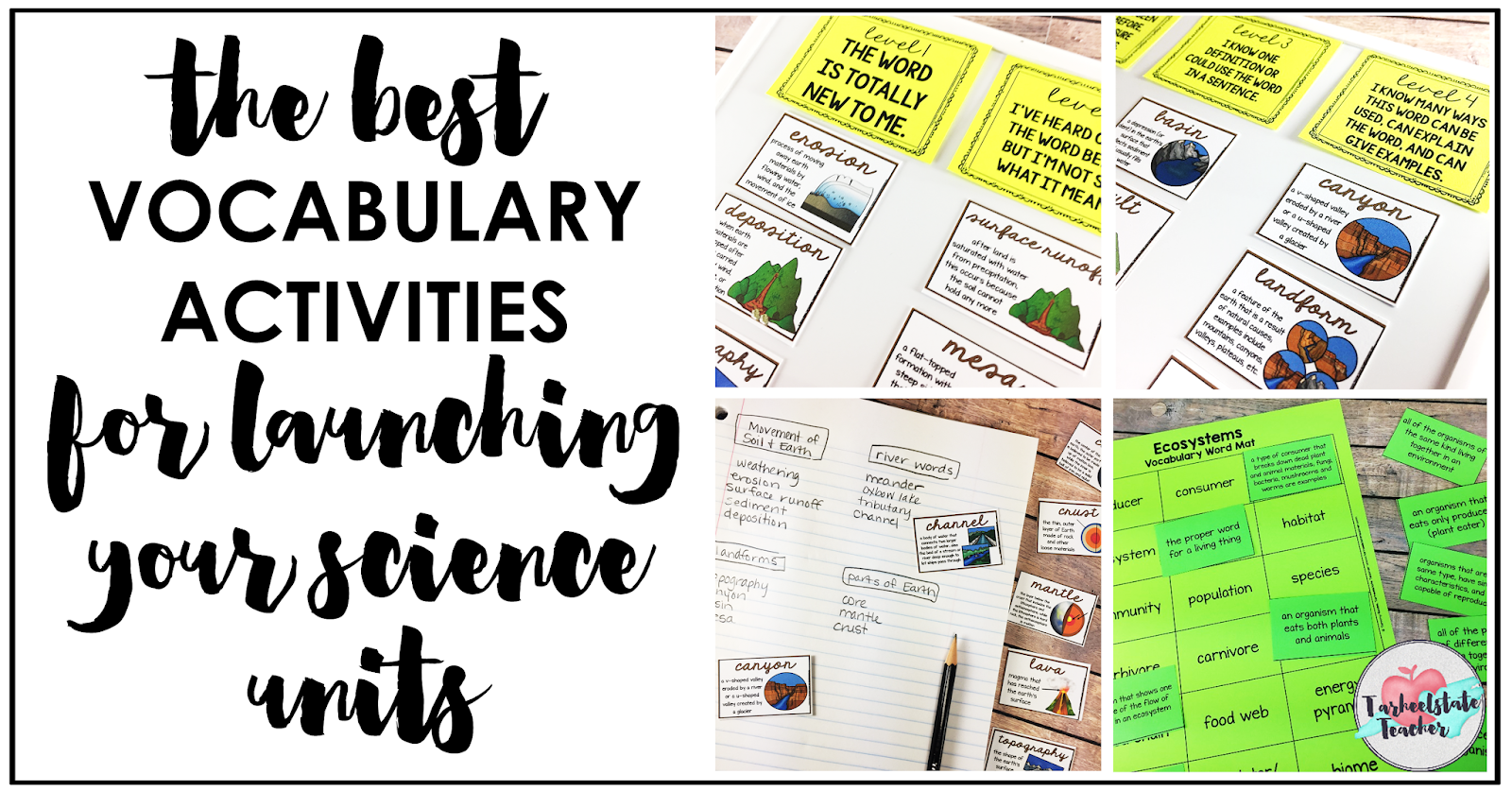 Reflections And Resources From Tarheelstate Teacher Science Vocabulary Activities And Ideas For