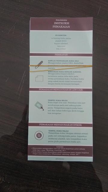 Brosur Instruksi Pemakaian Kuku Palsu