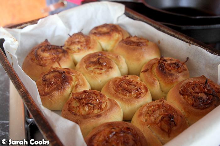 Kaya and coconut sticky buns