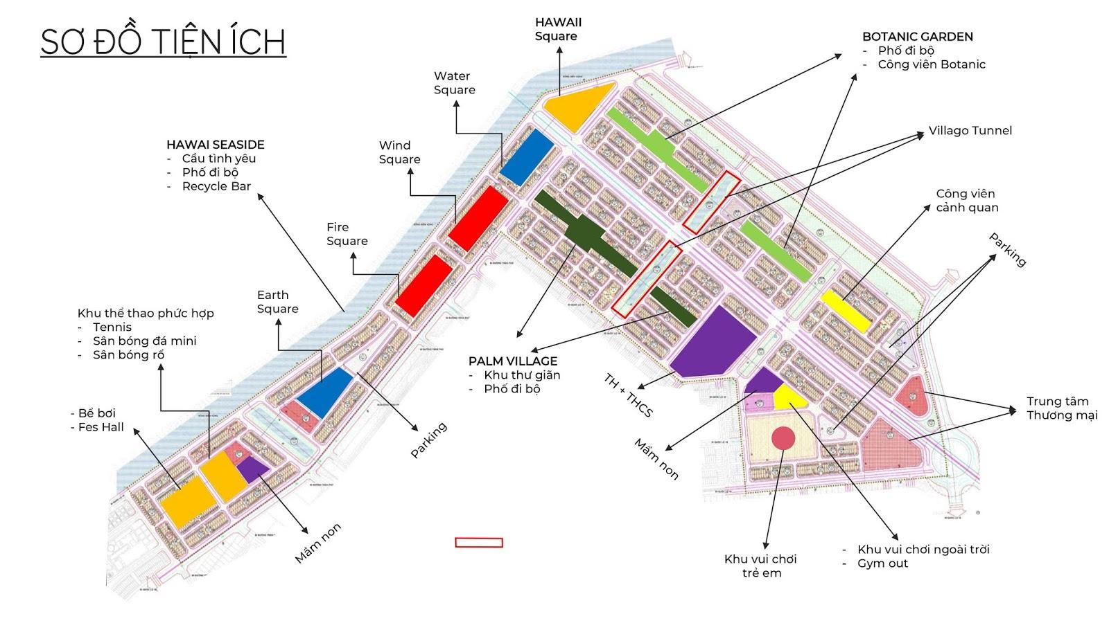 Sơ độ tiện ích tại dự án Flc Tropical City Hà Khánh