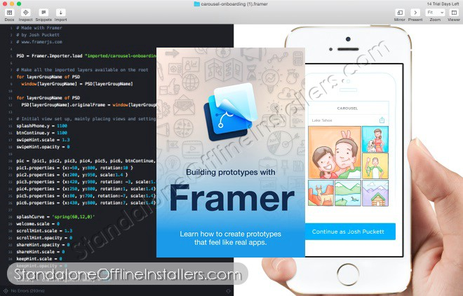Framer Studio Latest  Standalone Offline Installer for Mac OS X | logo