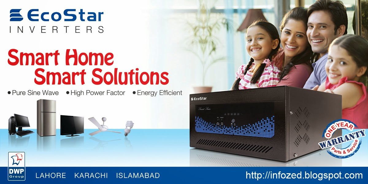Ecostar Inverters Smart Home Smart Solutions Pure Sine Wava High Power Factor Energy Efficient