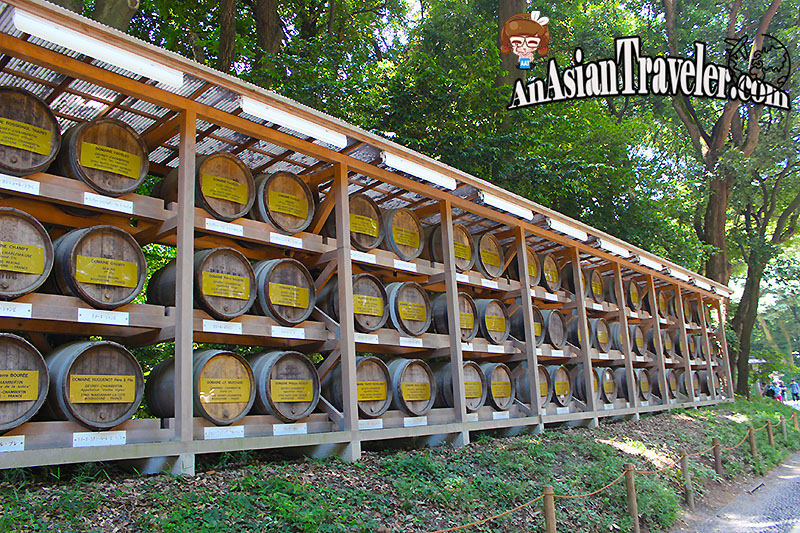 Barrels of Wine at Meiji Jingu