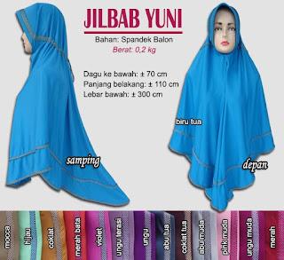 Jilbab bergo serut jumbo spandek balon - yuni