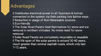 advantages of solar roadways