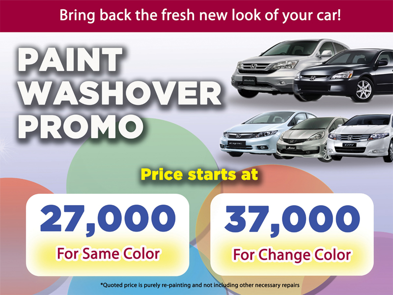 Honda Paint Washover Promo