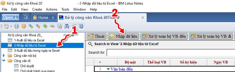 Chuyển đổi dữ liệu giữa trục liên thông VNPT và Notes 8.5
