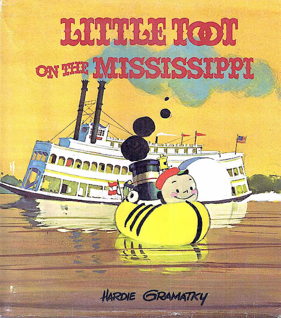 Little Toot on the Mississippi, a Hardie Gramatky children's book illustration
