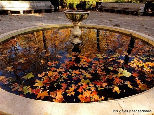 Fuente del reloj, jardín de la Isla, Aranjuez