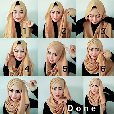 Tutorial Hijab yang Cocok dengan menggunakan Kebaya Kutu Baru untuk Wisuda
