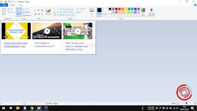 3. Kemudian silakan buka aplikasi Paint lalu tekan kombinasi CTRL + V untuk paste hasil screenshot tadi