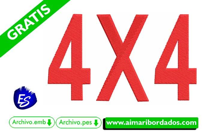 Logo 4X4 Para Bordar