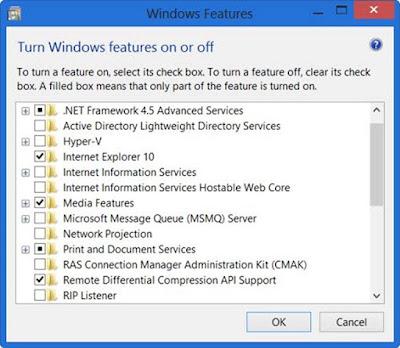 Mengatasi Masalah Turn Windows Features On Or Off Blank Atau Kosong