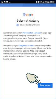 Cara masuk dan menambah akun Gmail di Android 9