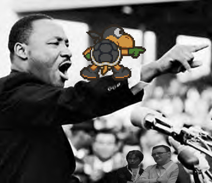 Martin Luther King Jr. Black Ninja Koopa Bros. Paper Mario I Have a Dream