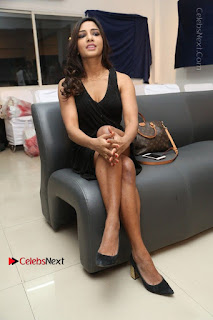 Telugu Actress Kamna Singh Stills in Black Dress at Bharat Thakur Art Exhibition Launch  0183.jpg
