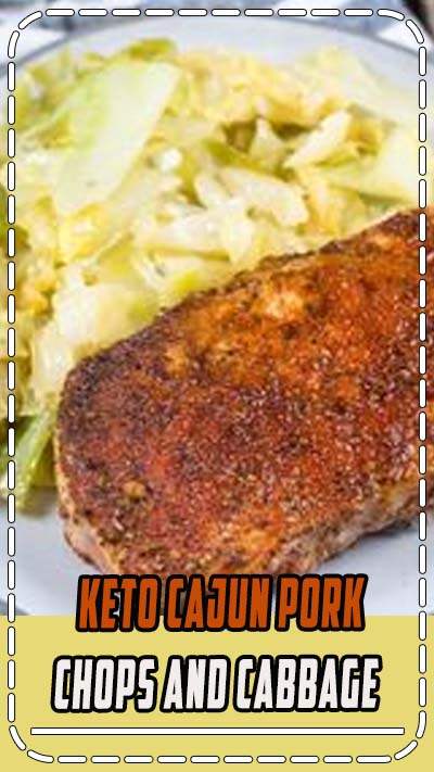 This easy Cajun Pork Chops and Fried Cabbage dish is the easiest one pan, 30 minute meal! At just 3.7 net carbs this is a low carb, keto approved dinner you will love! #keto #onepanrecipe