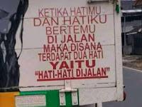 Humor bahasa: Hati-hati di Jalan