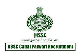 HSSC Canal Patwari Recruitment 2020