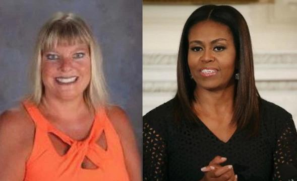 racist teacher fired michelle obama gorilla