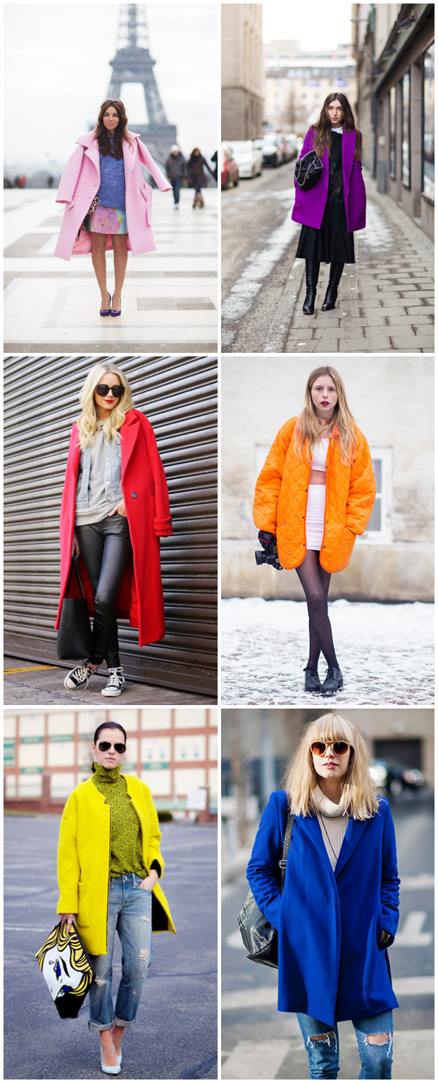 Colored Winter Coats, Inspiration, Tanvii.com