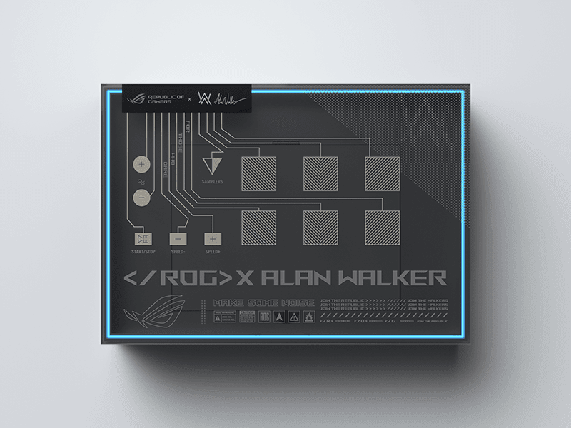 Even the box is special as it becomes a custom ROG Remix sampler