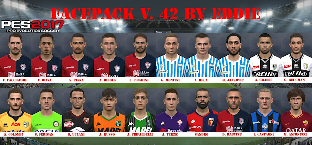 PES 2017 Facepack v.42 all from Serie A by Eddie