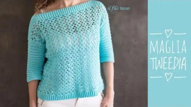 Tutorial Blusa Tweedia a Crochet