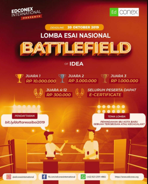 Lomba Esai Nasional: Battlefield of Idea 2019