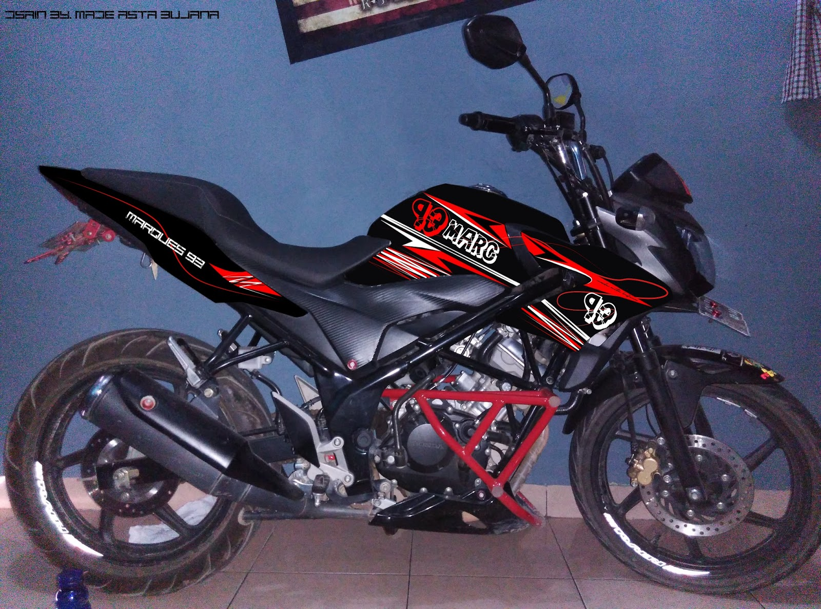 101 Modifikasi Motor Cb 150 R Striping Modifikasi Motor Honda CB