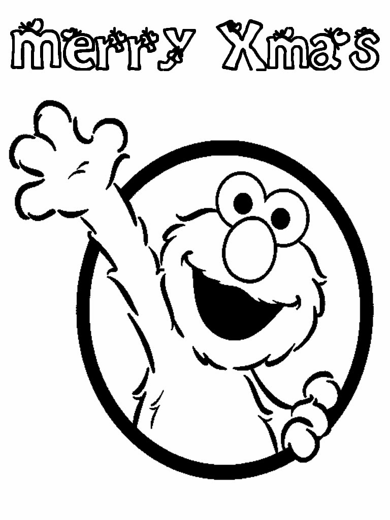 elmo xmas printable coloring pages