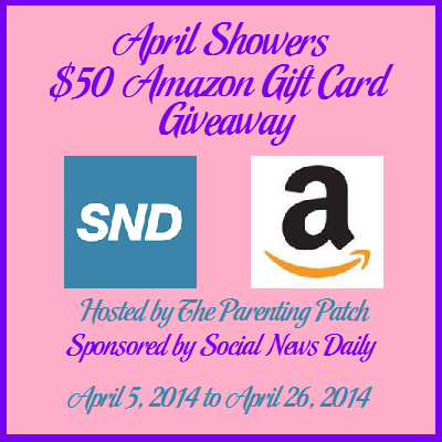 Hiccups and Sunshine: April Showers $50 Amazon Gift Card Giveaway