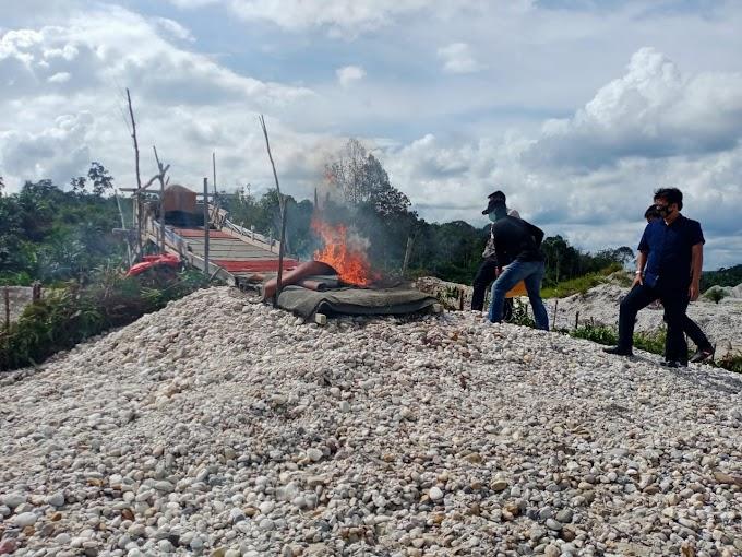 Giat PETI, Pelaku Kabur Dan Petugas Temukan Dompeng Darat