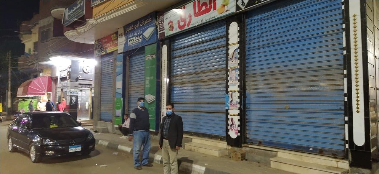 لعدم الالتزام بالإجراءات الإحترازية.غلق محل وتحرير 8محاضر بحوش عيسى