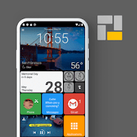 Square home launcher premium